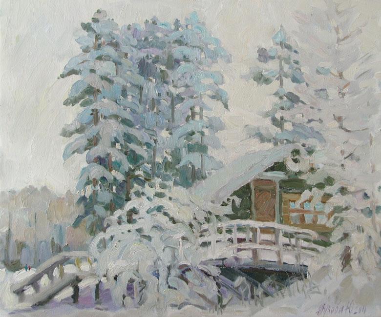 Зимний пейзаж зимний лес новый год